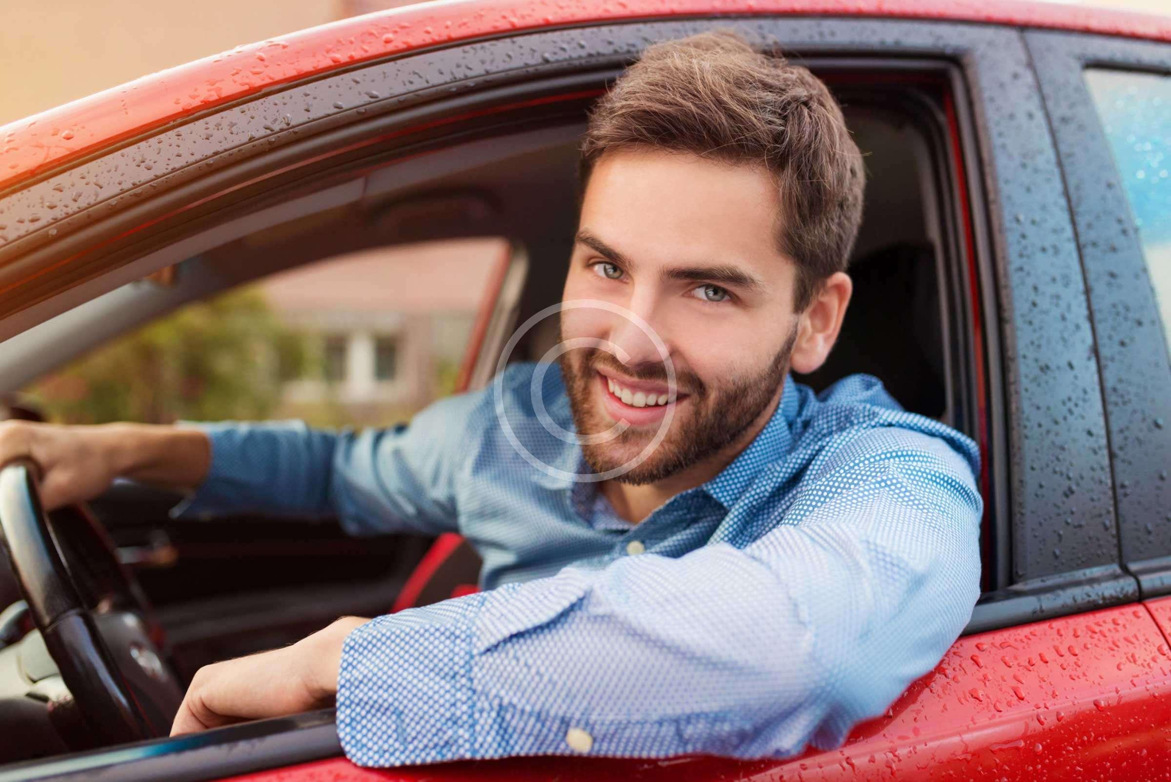 Happy car accessories show visitors